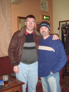 Dave Shaw and me in The Montague Arms, Mexborough,